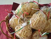 Italian Meat and Fish Red Clam Sauces with Fettucini Pasta Gift Box