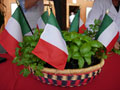Italian Flags Basil Center Piece